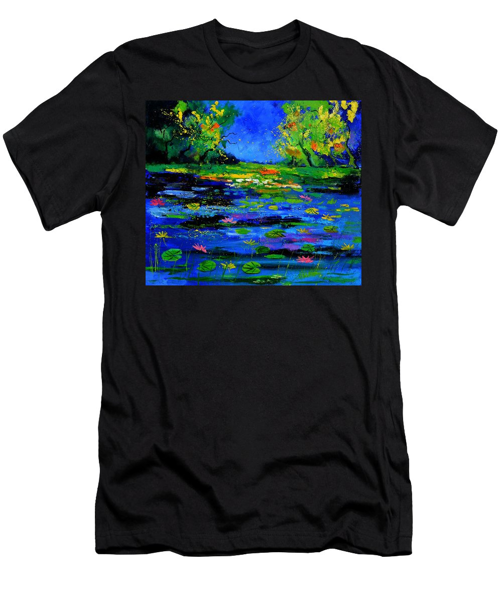Landscape T-Shirt featuring the painting Magic pond 765170 by Pol Ledent