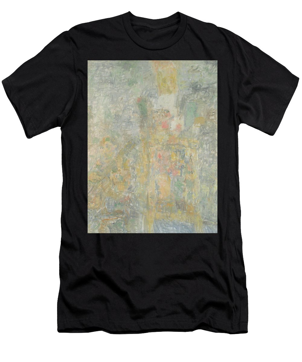 Bouquet Men's T-Shirt (Athletic Fit) featuring the painting Man by Robert Nizamov