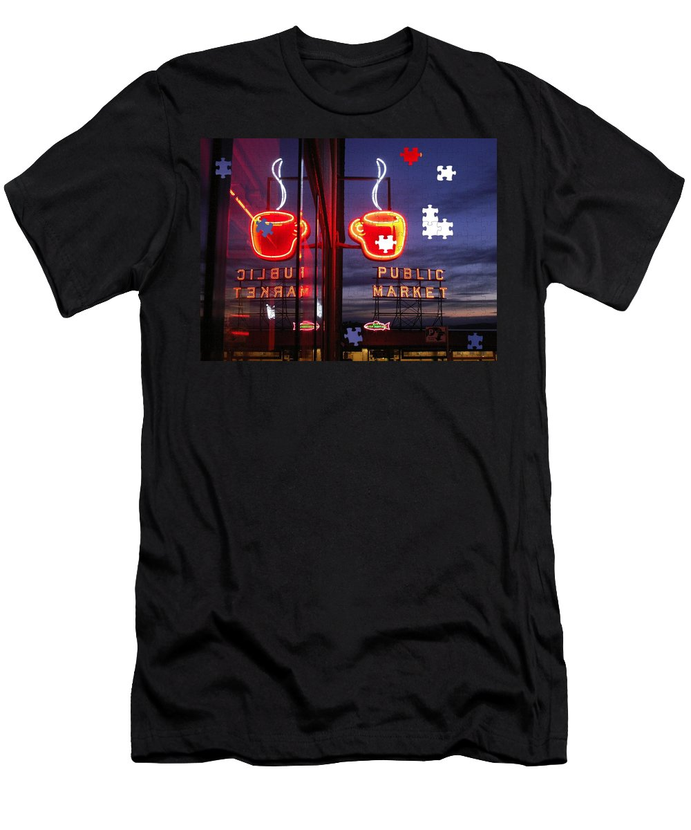 Seattle Men's T-Shirt (Athletic Fit) featuring the photograph Market Cup by Tim Allen