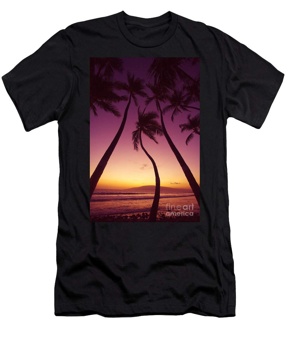 Beach Men's T-Shirt (Athletic Fit) featuring the photograph Maui Palms by Ron Dahlquist - Printscapes