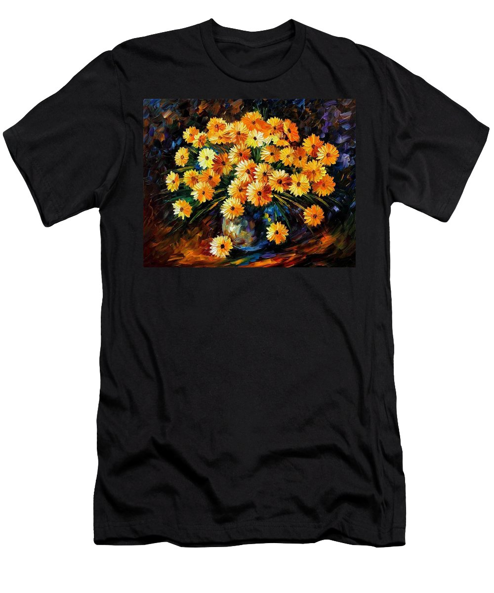 Afremov Men's T-Shirt (Athletic Fit) featuring the painting Melody Of Beauty by Leonid Afremov