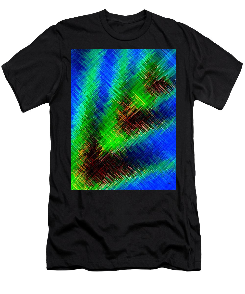 Micro Linear Men's T-Shirt (Athletic Fit) featuring the digital art Micro Linear 7 by Will Borden