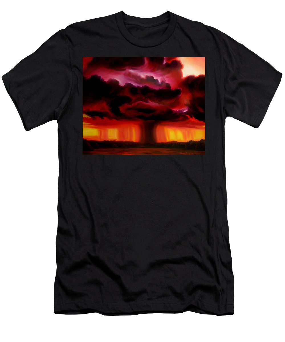 Skyscape Men's T-Shirt (Athletic Fit) featuring the painting Microburst by James Christopher Hill