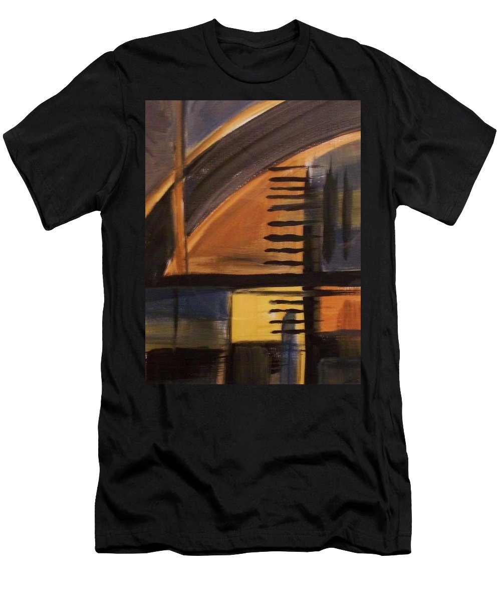 Abstract Men's T-Shirt (Athletic Fit) featuring the painting Modern Architecture 1 by Anita Burgermeister