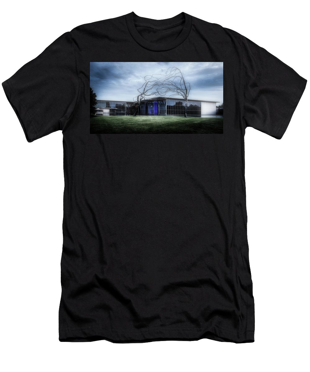 Modern Art Museum Men's T-Shirt (Athletic Fit) featuring the photograph Modern Art Museum Of Fort Worth by L O C