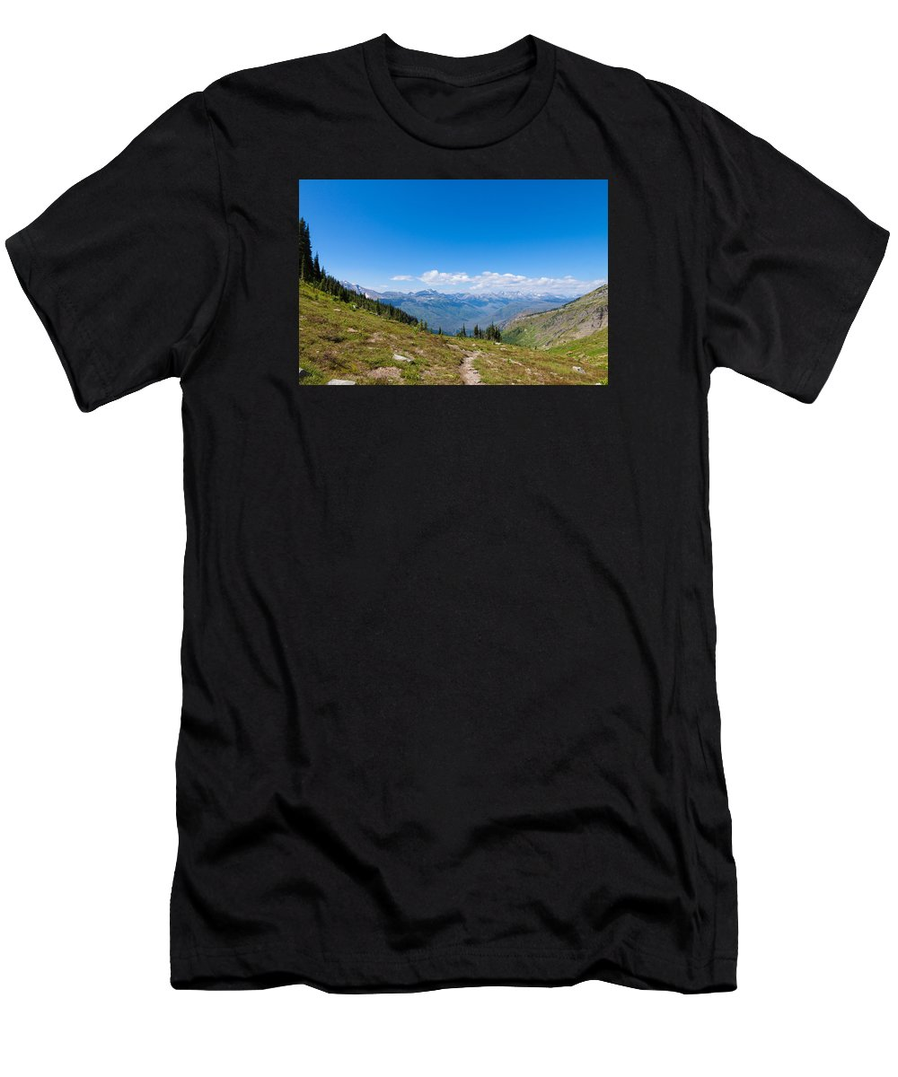 Montana Men's T-Shirt (Athletic Fit) featuring the photograph Montana-glacier National Park-highline Trail by Arlene Waller
