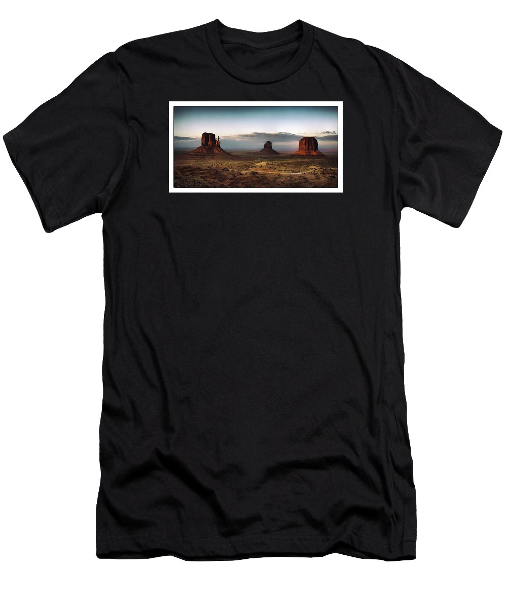 Arizona Men's T-Shirt (Athletic Fit) featuring the photograph Monument Valley by Robert Fawcett