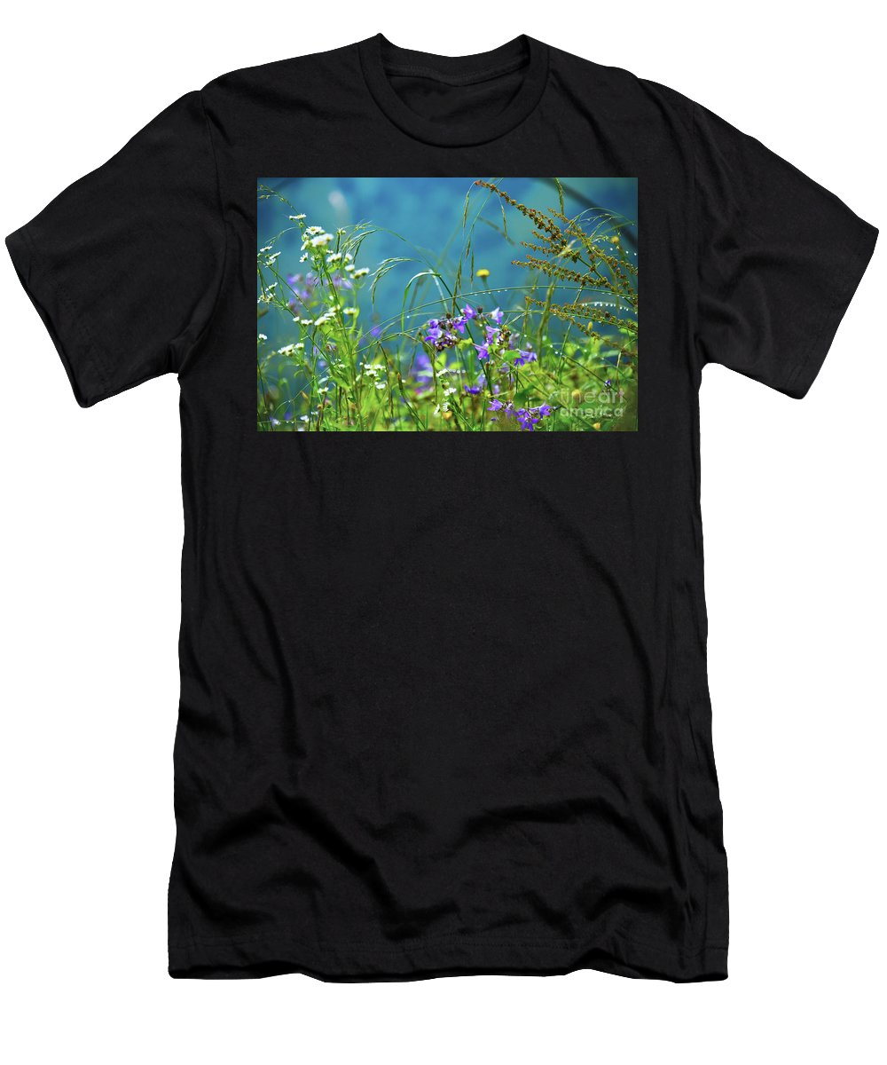 Nature Men's T-Shirt (Athletic Fit) featuring the photograph Morning Dew by Svetlana Sewell