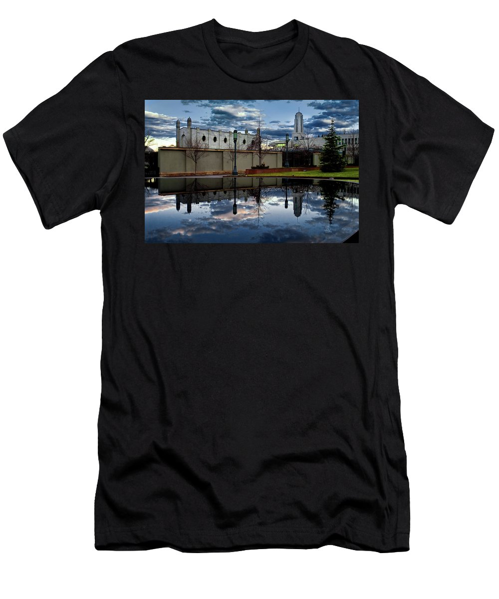 Men's T-Shirt (Athletic Fit) featuring the photograph Morning Reflection by La Rae Roberts