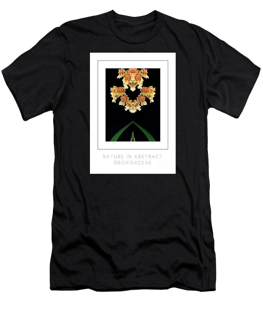 Men's T-Shirt (Athletic Fit) featuring the photograph Nature In Abstract Orchidaceae by Mike Nellums