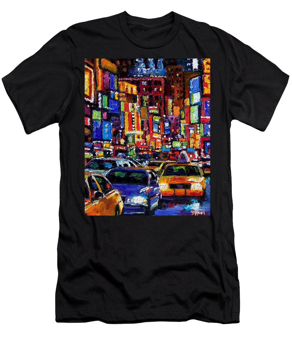 New York City T-Shirt featuring the painting New York City by Debra Hurd