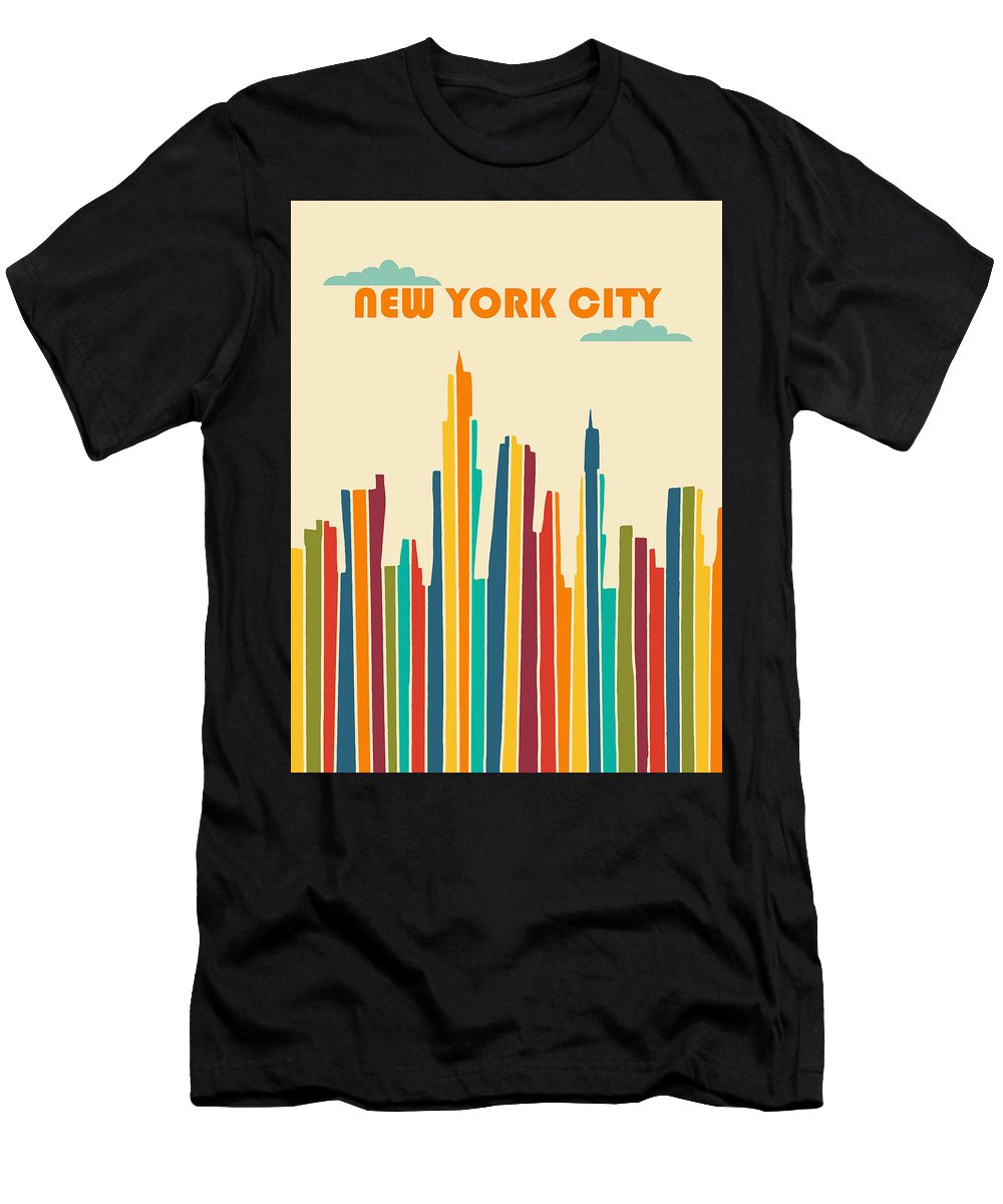 New York City Men's T-Shirt (Athletic Fit) featuring the digital art New York City by Nicole Wilson