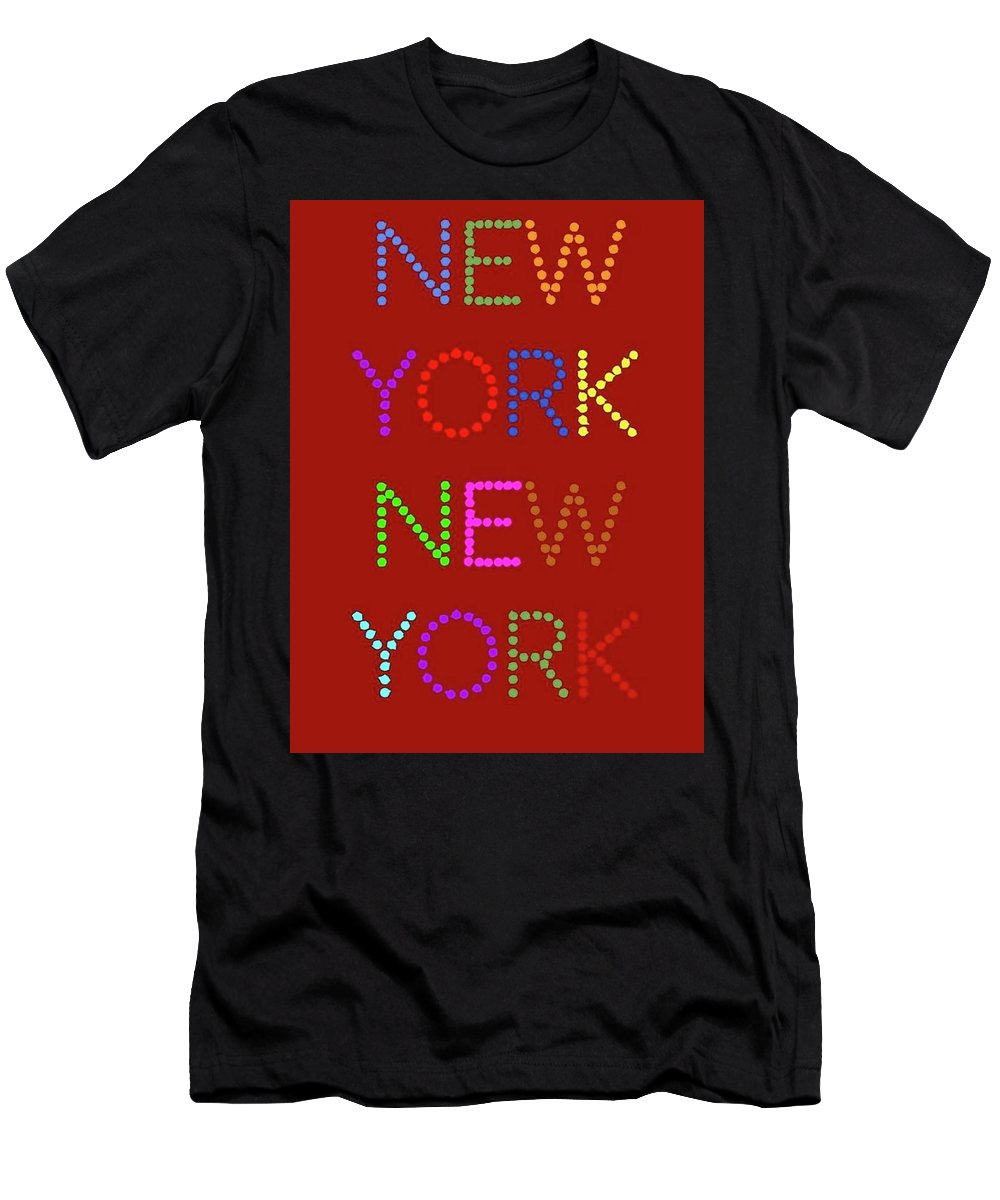 New York Men's T-Shirt (Athletic Fit) featuring the digital art New York No 1 by LogCabinCottage
