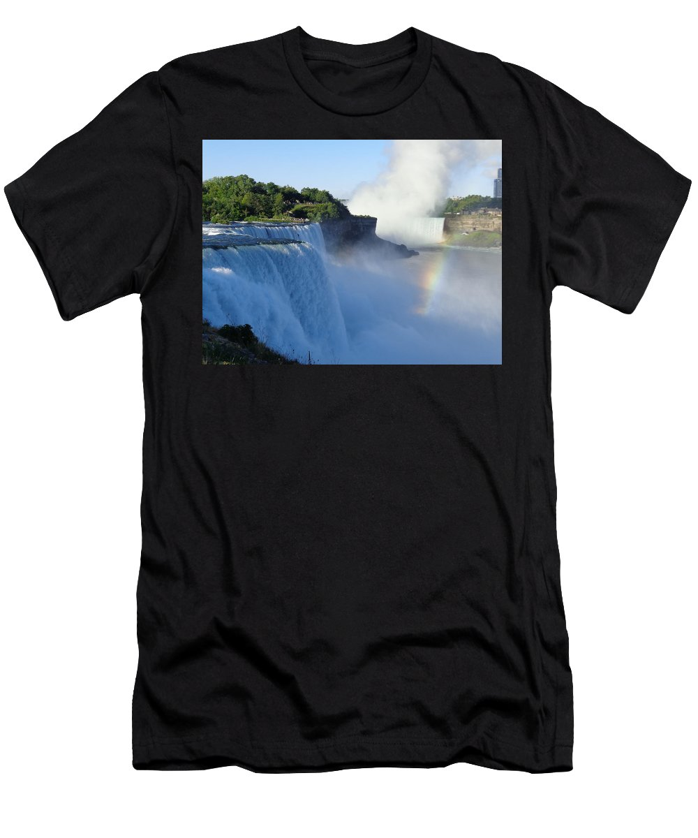 Niagara Falls Men's T-Shirt (Athletic Fit) featuring the photograph Niagara Falls by Jeanne Russell