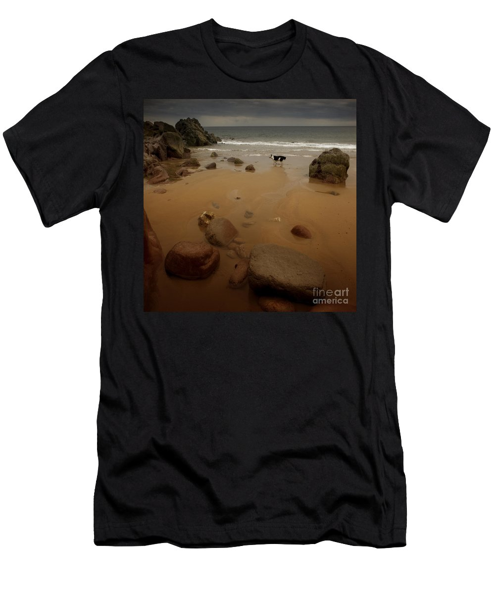 Beach Men's T-Shirt (Athletic Fit) featuring the photograph On The Beach by Angel Ciesniarska