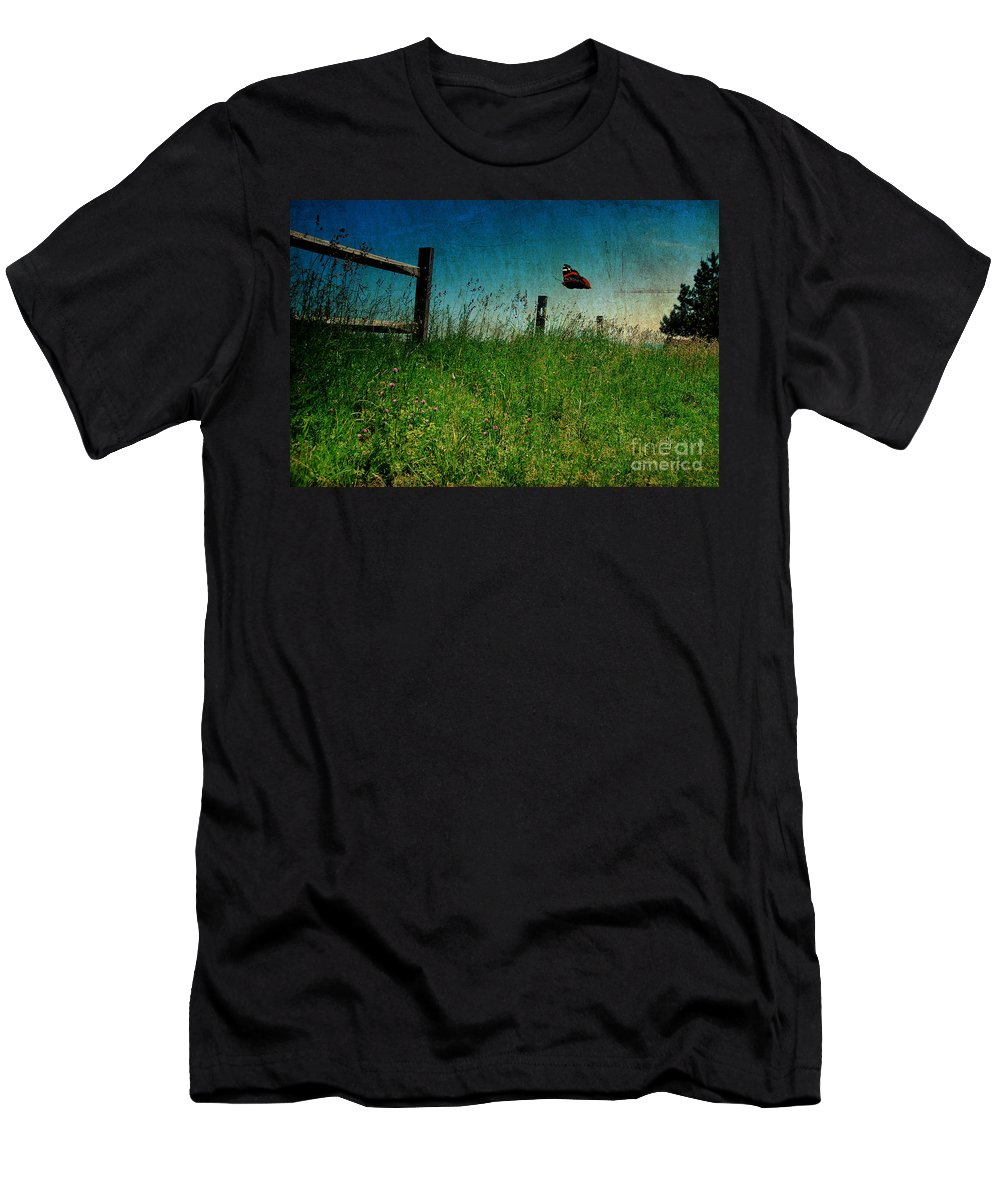 Butterfly Men's T-Shirt (Athletic Fit) featuring the photograph On The Breeze by Lois Bryan