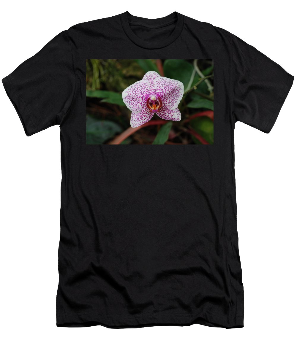 Pink Men's T-Shirt (Athletic Fit) featuring the photograph Orchid by Rob Hans