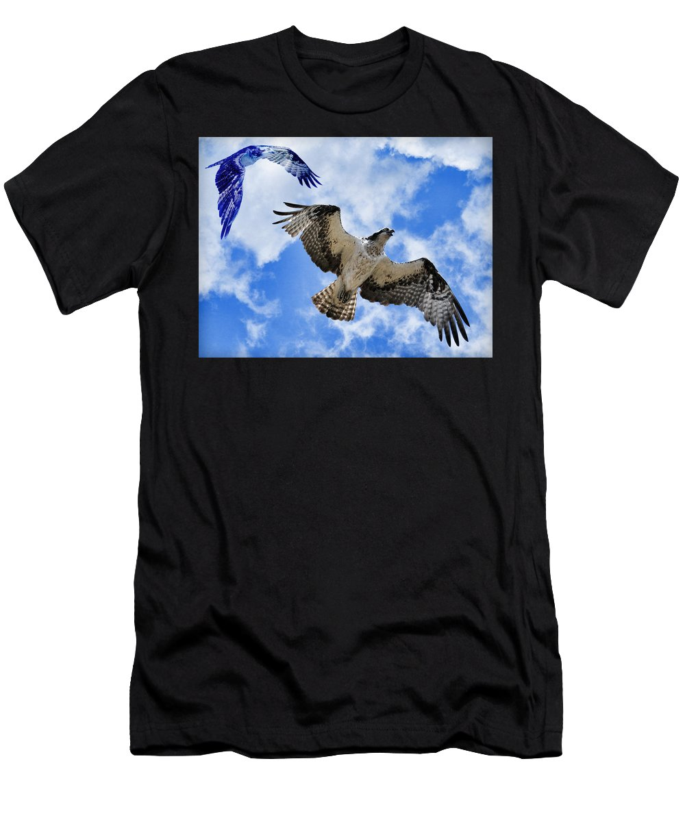 Osprey Men's T-Shirt (Athletic Fit) featuring the photograph Osprey by Steve McKinzie