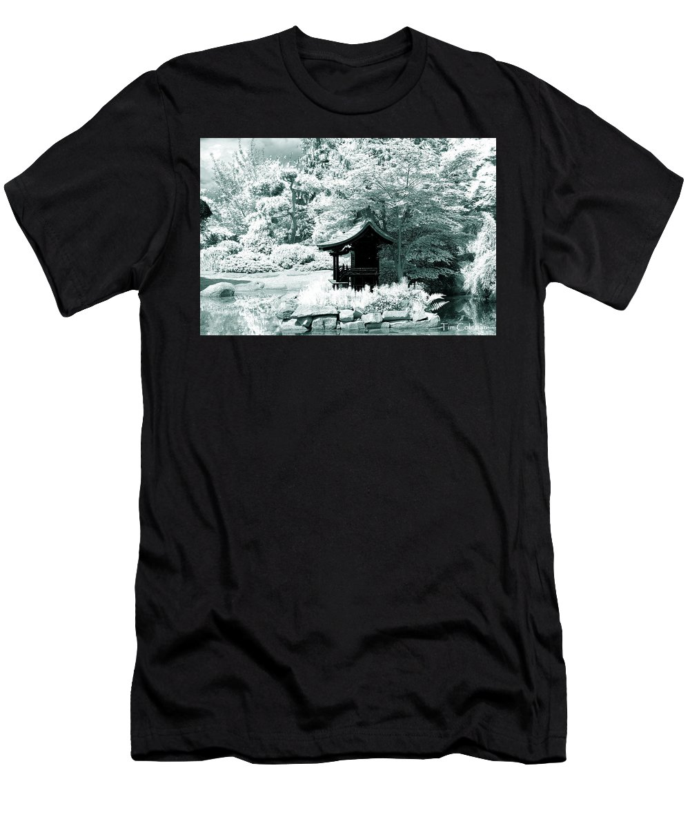 Pagoda Men's T-Shirt (Athletic Fit) featuring the photograph Pagoda by Tim Coleman