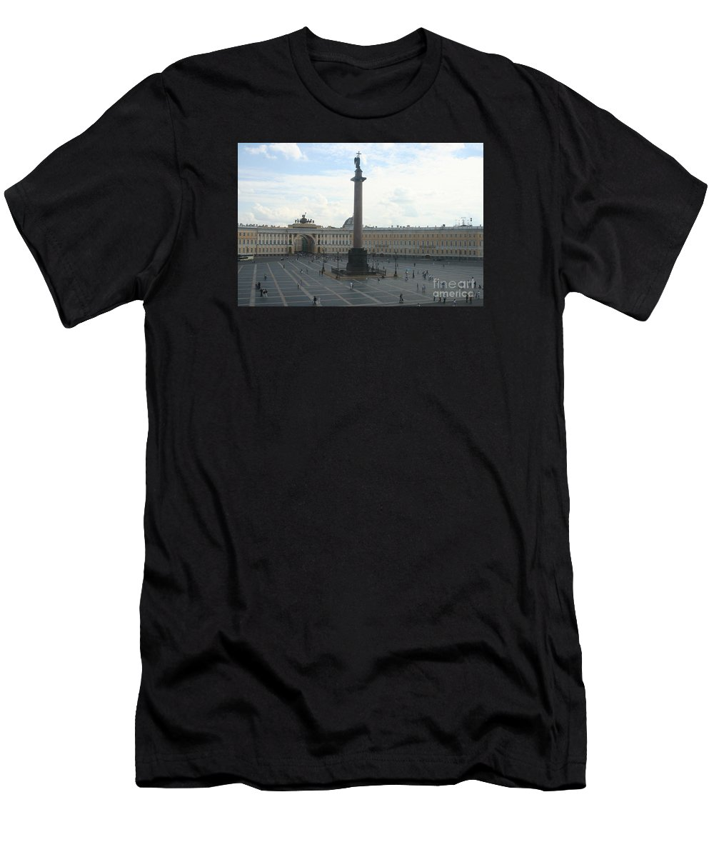 Palace Men's T-Shirt (Athletic Fit) featuring the photograph Palace Place - St. Petersburg by Christiane Schulze Art And Photography