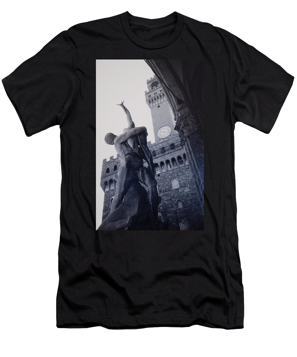 Florence Men's T-Shirt (Athletic Fit) featuring the photograph Palazzo Vecchio by Kurt Hausmann