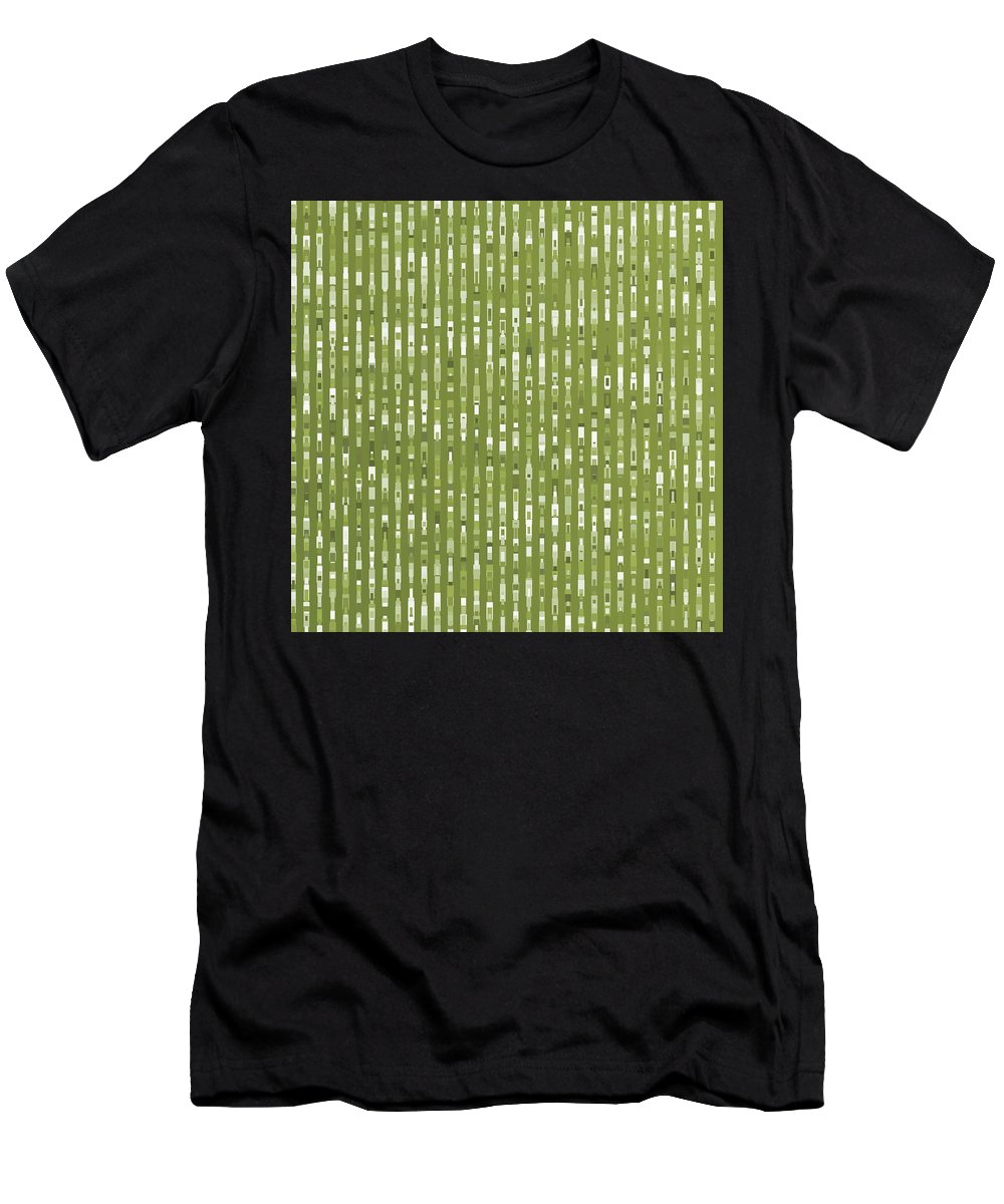 Pattern 76 Men's T-Shirt (Athletic Fit) featuring the digital art Pattern 76 by Marko Sabotin
