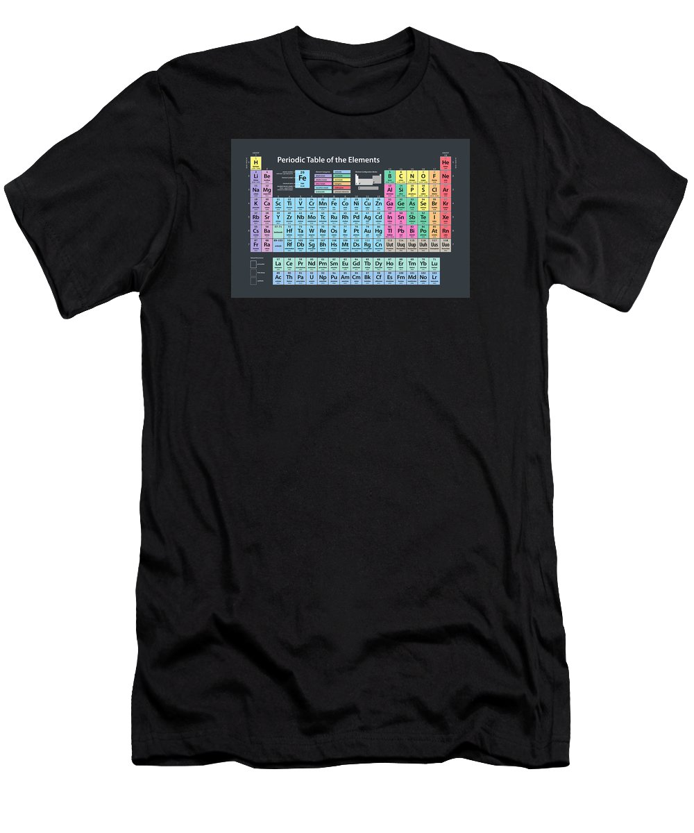 Periodic Table Of Elements Men's T-Shirt (Athletic Fit) featuring the digital art Periodic Table Of Elements by Michael Tompsett