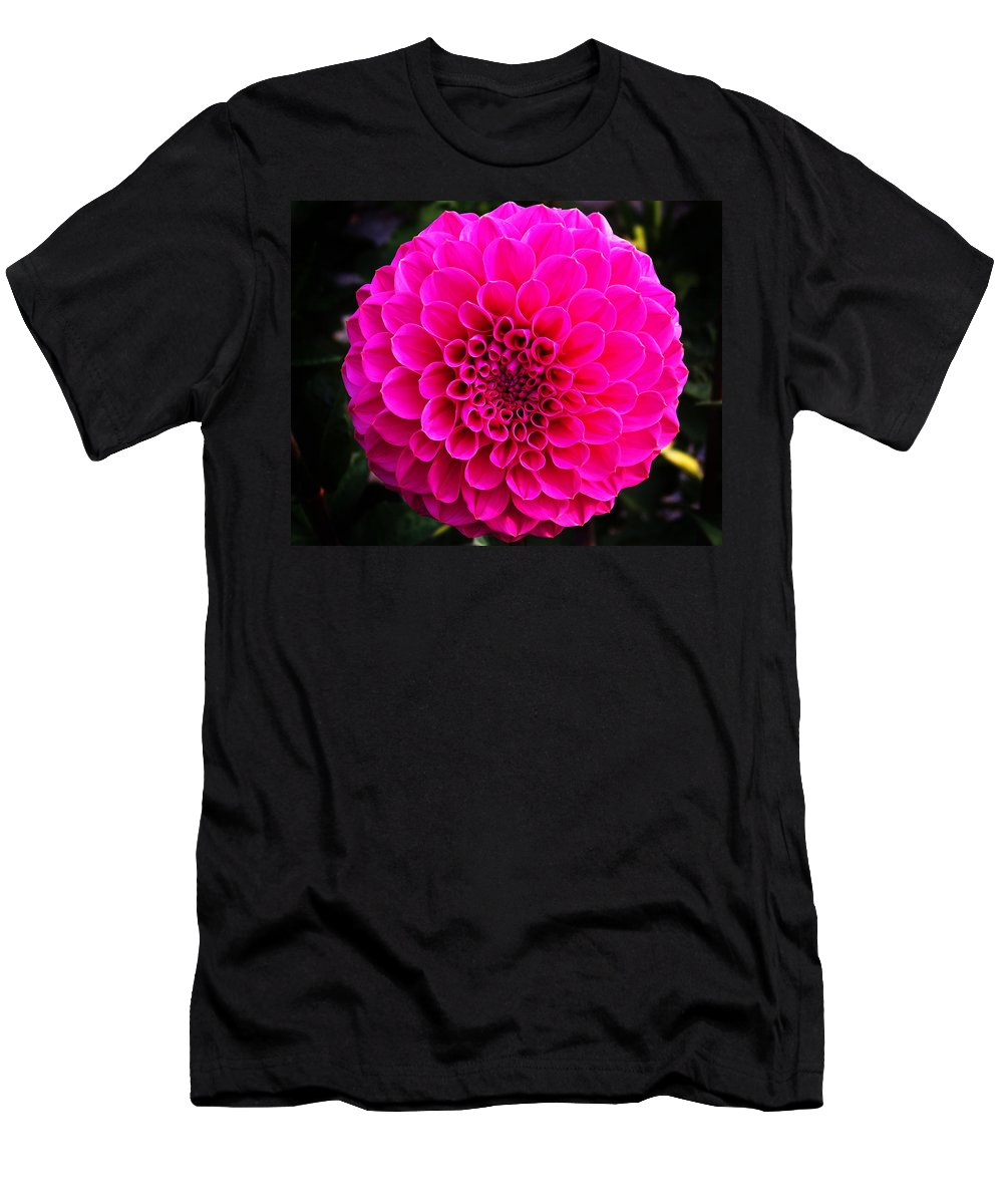 Flower Men's T-Shirt (Athletic Fit) featuring the photograph Pink Flower by Anthony Jones