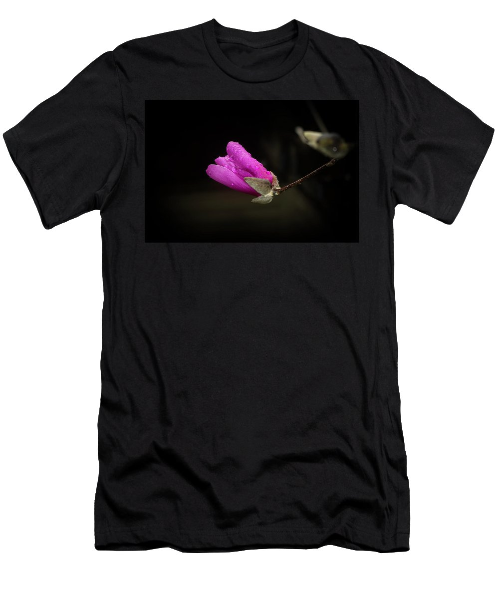 Flowers Men's T-Shirt (Athletic Fit) featuring the photograph Pink by Steve Purifoy