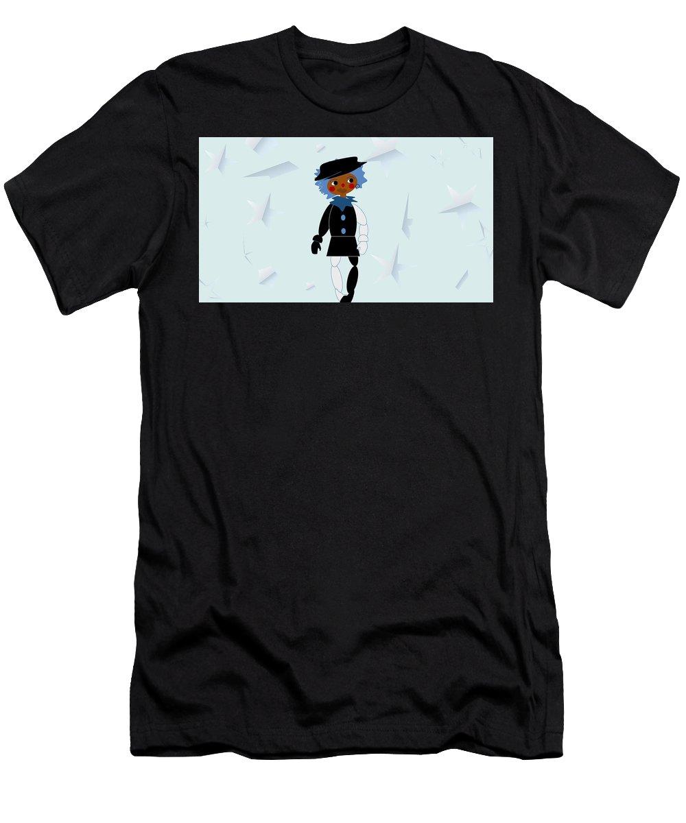 Clown Men's T-Shirt (Athletic Fit) featuring the digital art Pittypat Clown by Shirlena Rudder