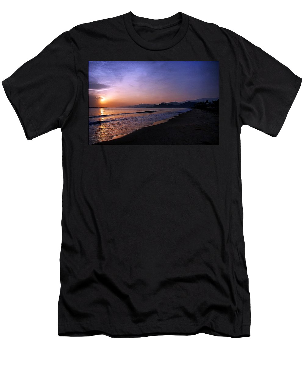Playa Huequito Men's T-Shirt (Athletic Fit) featuring the photograph Playa Huequito by Galeria Trompiz