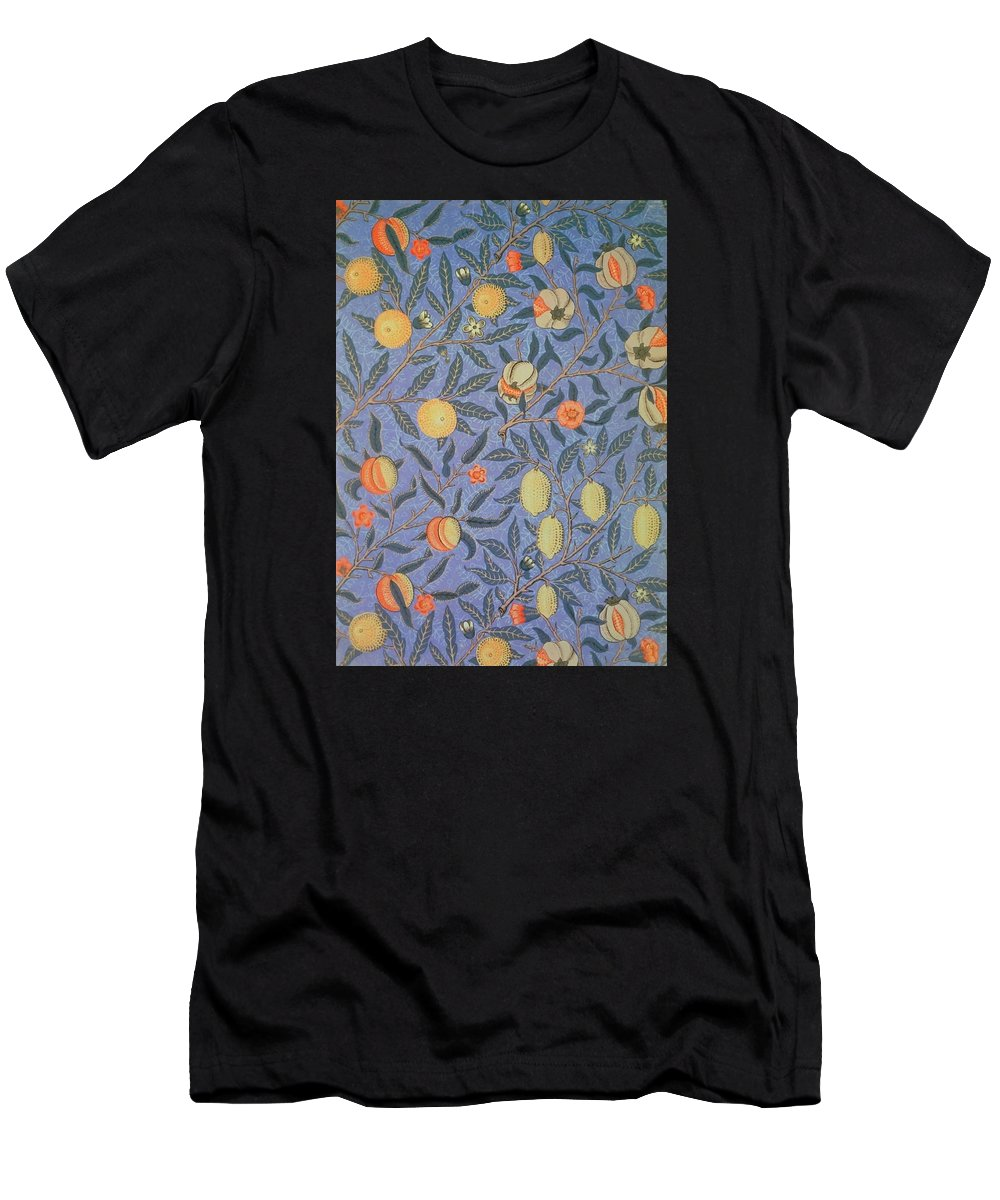 Artistic Men's T-Shirt (Athletic Fit) featuring the painting Pomegranate by William Morris