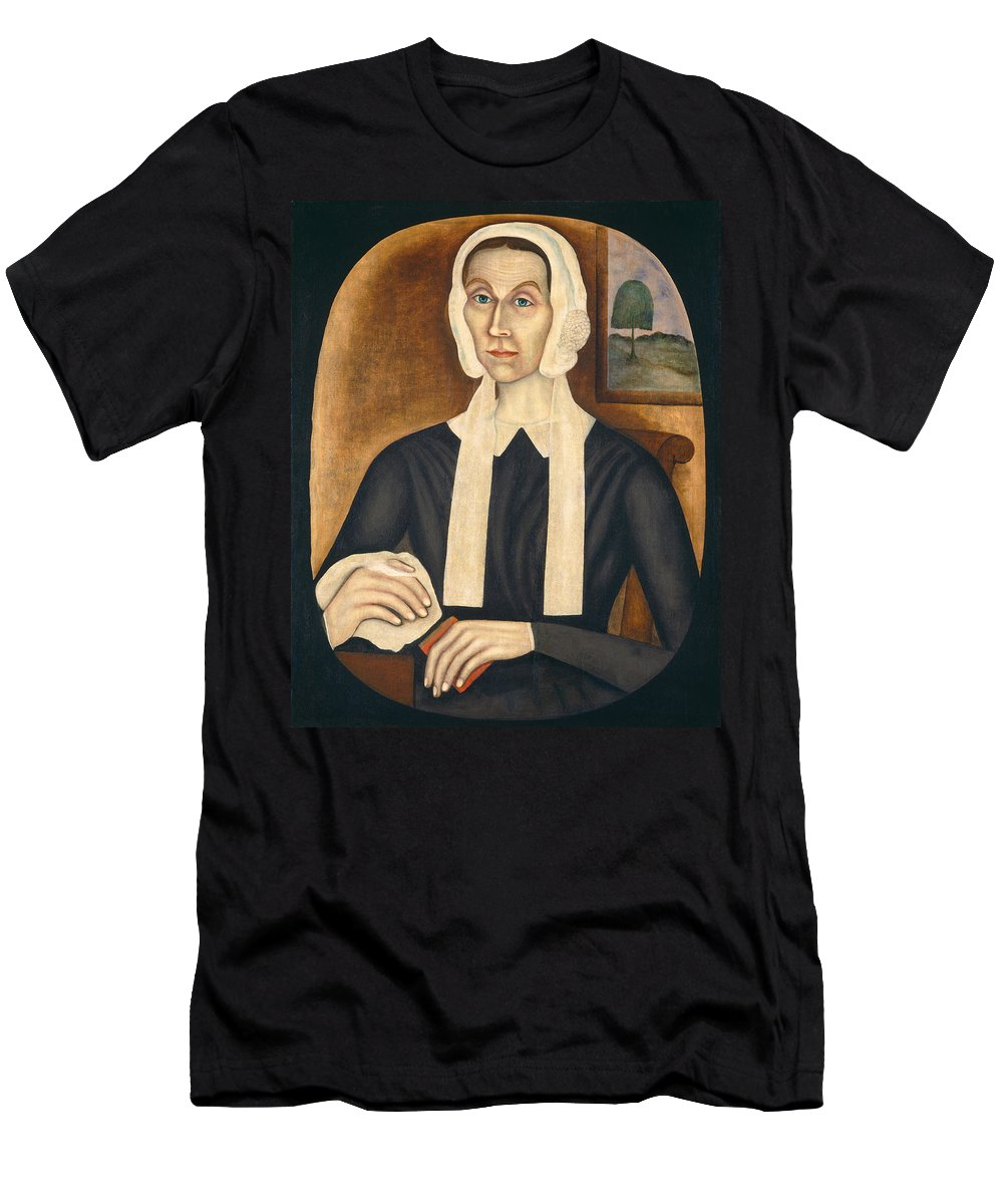 Art Men's T-Shirt (Athletic Fit) featuring the painting Portrait Of A Woman by Thomas Skynner