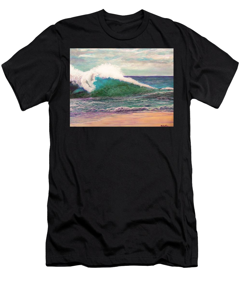 Sea Men's T-Shirt (Athletic Fit) featuring the painting Powerful Sea by Mike Hartley