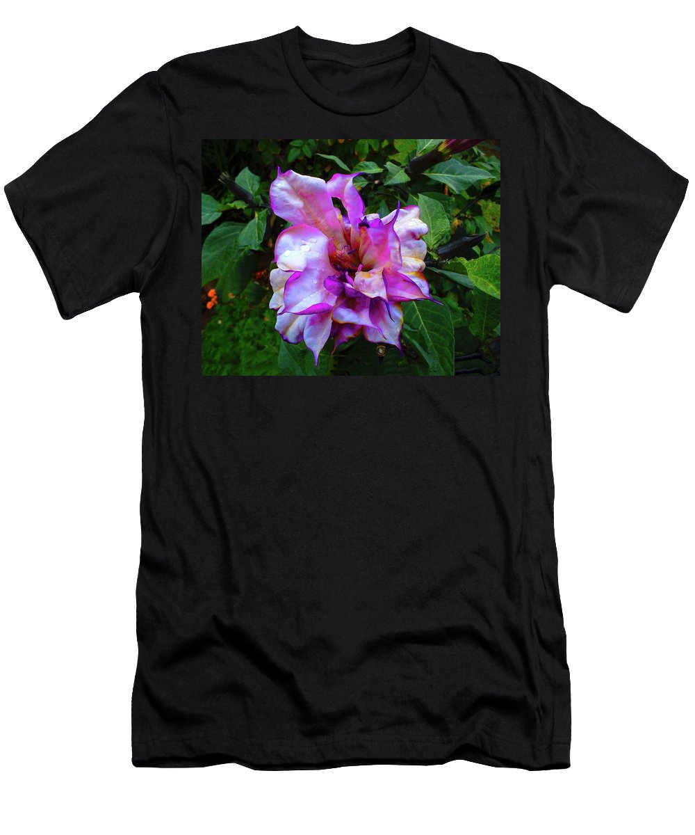 Flower Men's T-Shirt (Athletic Fit) featuring the photograph Purple Flower by Mark Blauhoefer