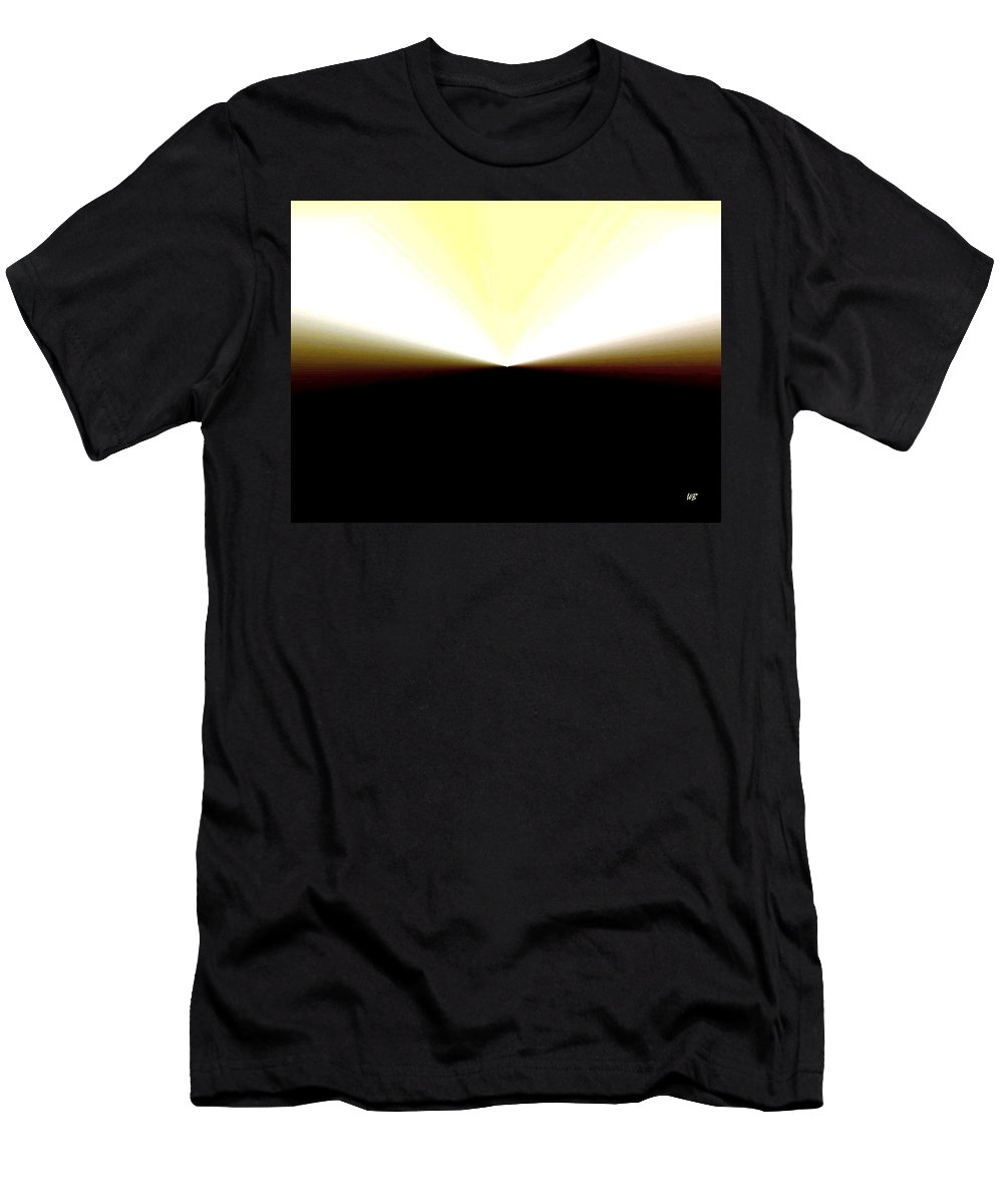 Abstract Men's T-Shirt (Athletic Fit) featuring the digital art Radiation by Will Borden