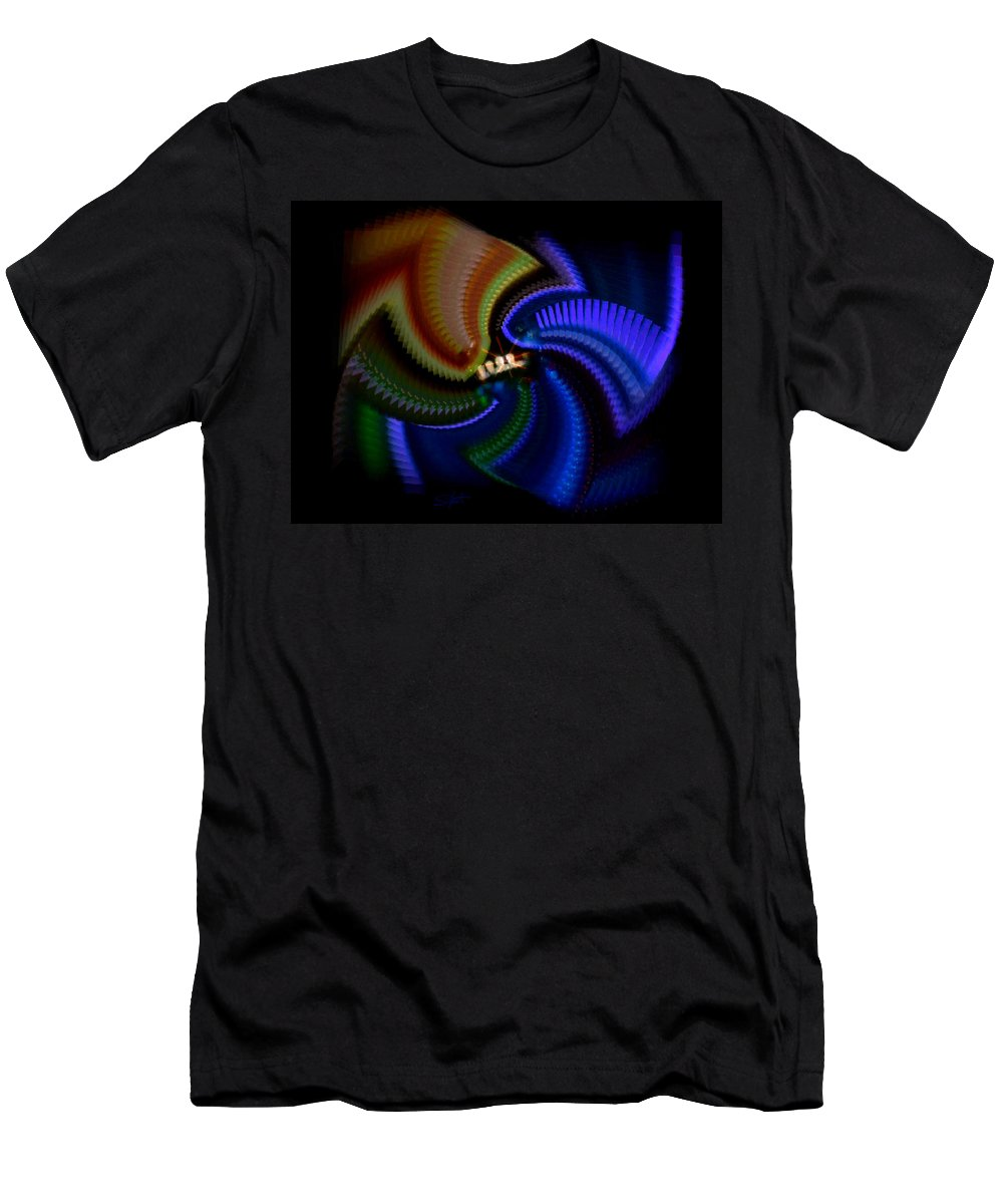 Chaos Men's T-Shirt (Athletic Fit) featuring the painting Rainbow by Charles Stuart
