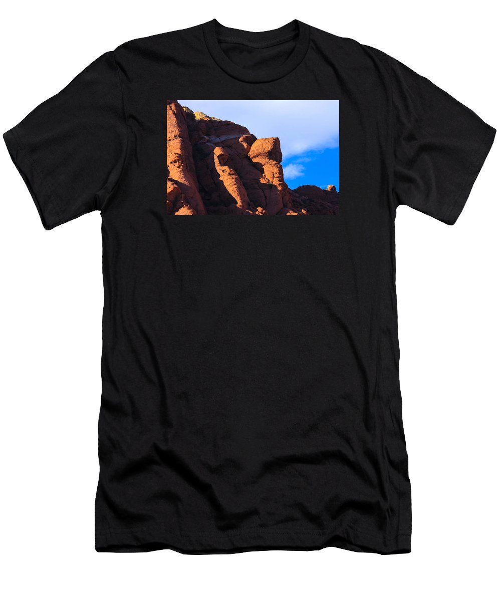 Red Rock Men's T-Shirt (Athletic Fit) featuring the photograph Red Rock by William Rogers