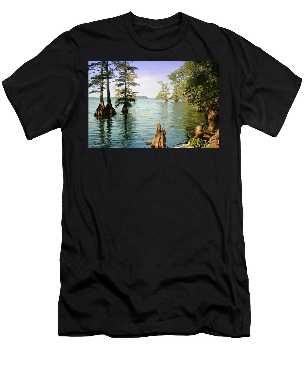 Lake Men's T-Shirt (Athletic Fit) featuring the photograph Reelfoot Lake by Bonnie Willis