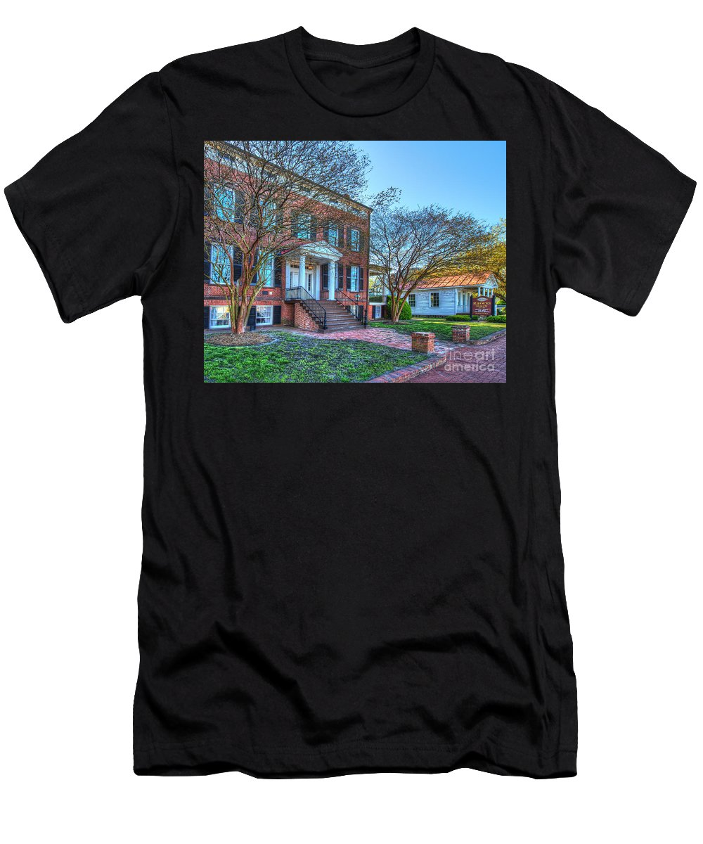 Christian Men's T-Shirt (Athletic Fit) featuring the photograph Riddicks Folly House Museum by Greg Hager