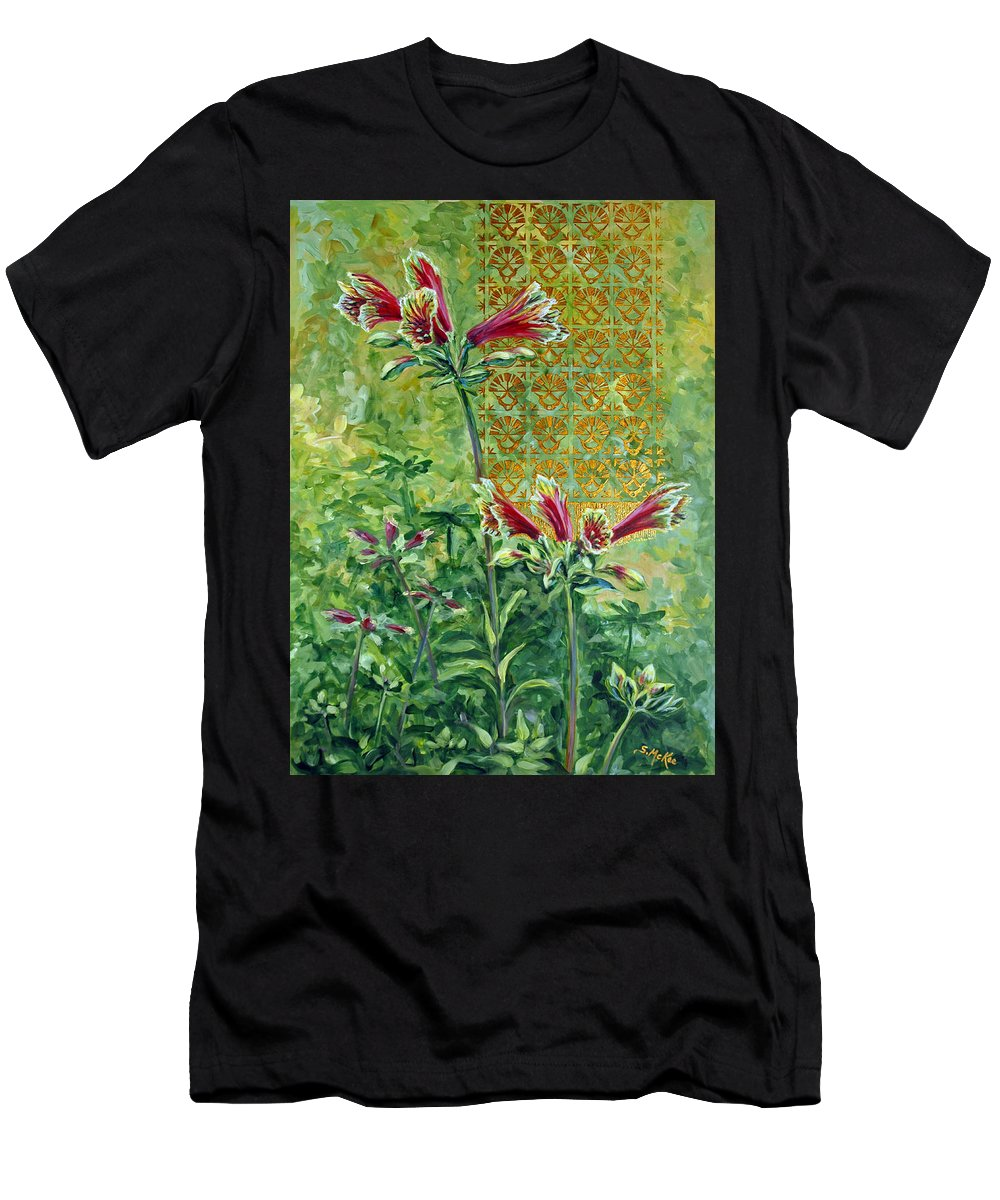 Acrylic Men's T-Shirt (Athletic Fit) featuring the painting Roadside Discovery by Suzanne McKee