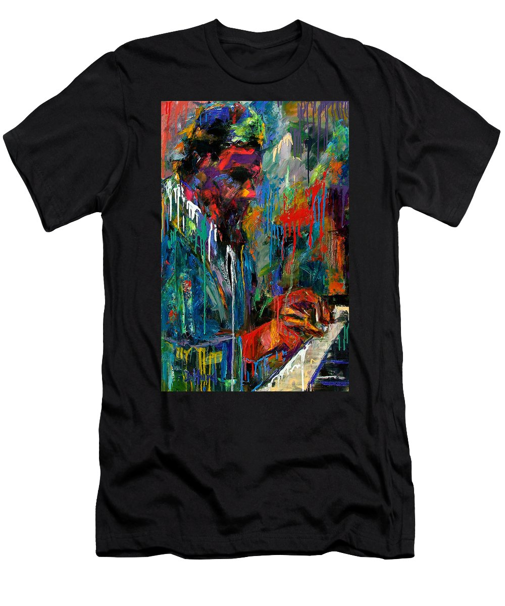 Painting Men's T-Shirt (Athletic Fit) featuring the painting Round Midnight by Debra Hurd