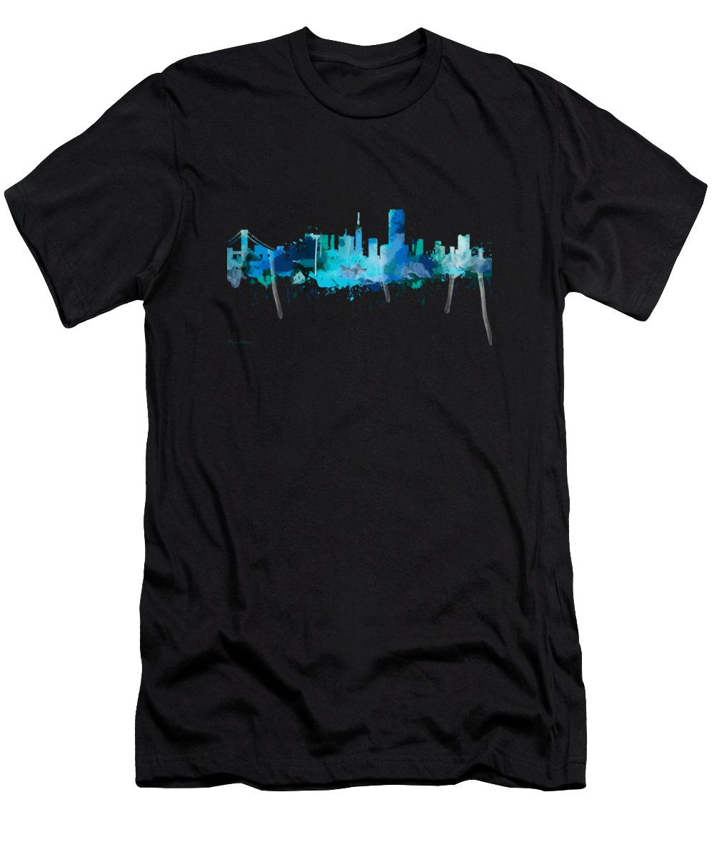 United States T-Shirt featuring the painting San Francisco by Mark Ashkenazi