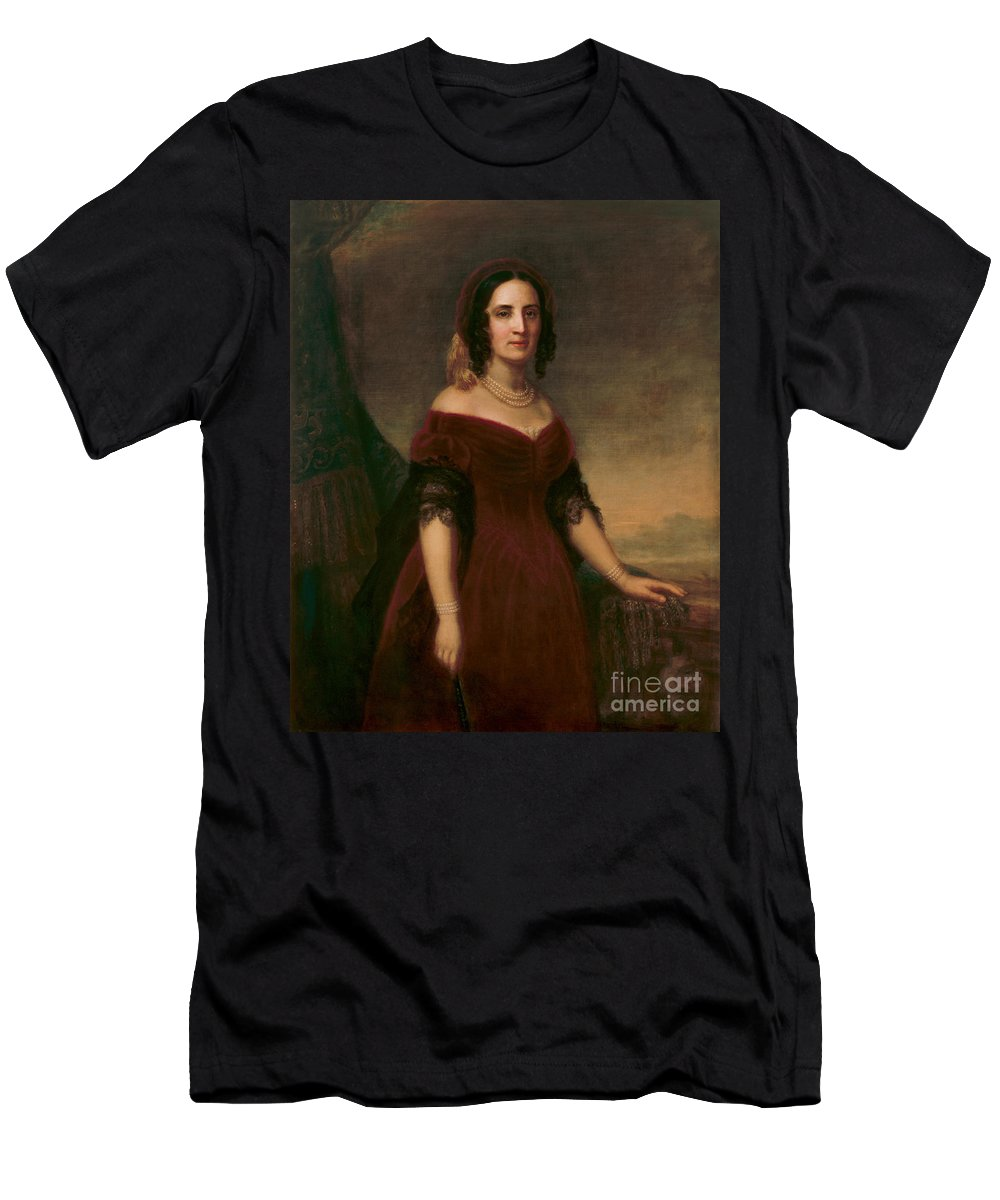 Government Men's T-Shirt (Athletic Fit) featuring the photograph Sarah Polk, First Lady by Science Source