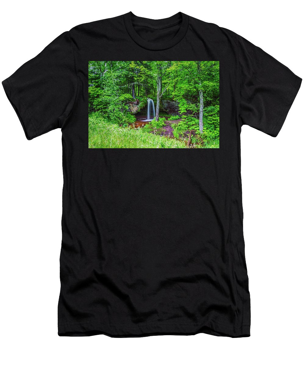 Scott Falls Men's T-Shirt (Athletic Fit) featuring the photograph Scott Falls by Sara DeVelbiss