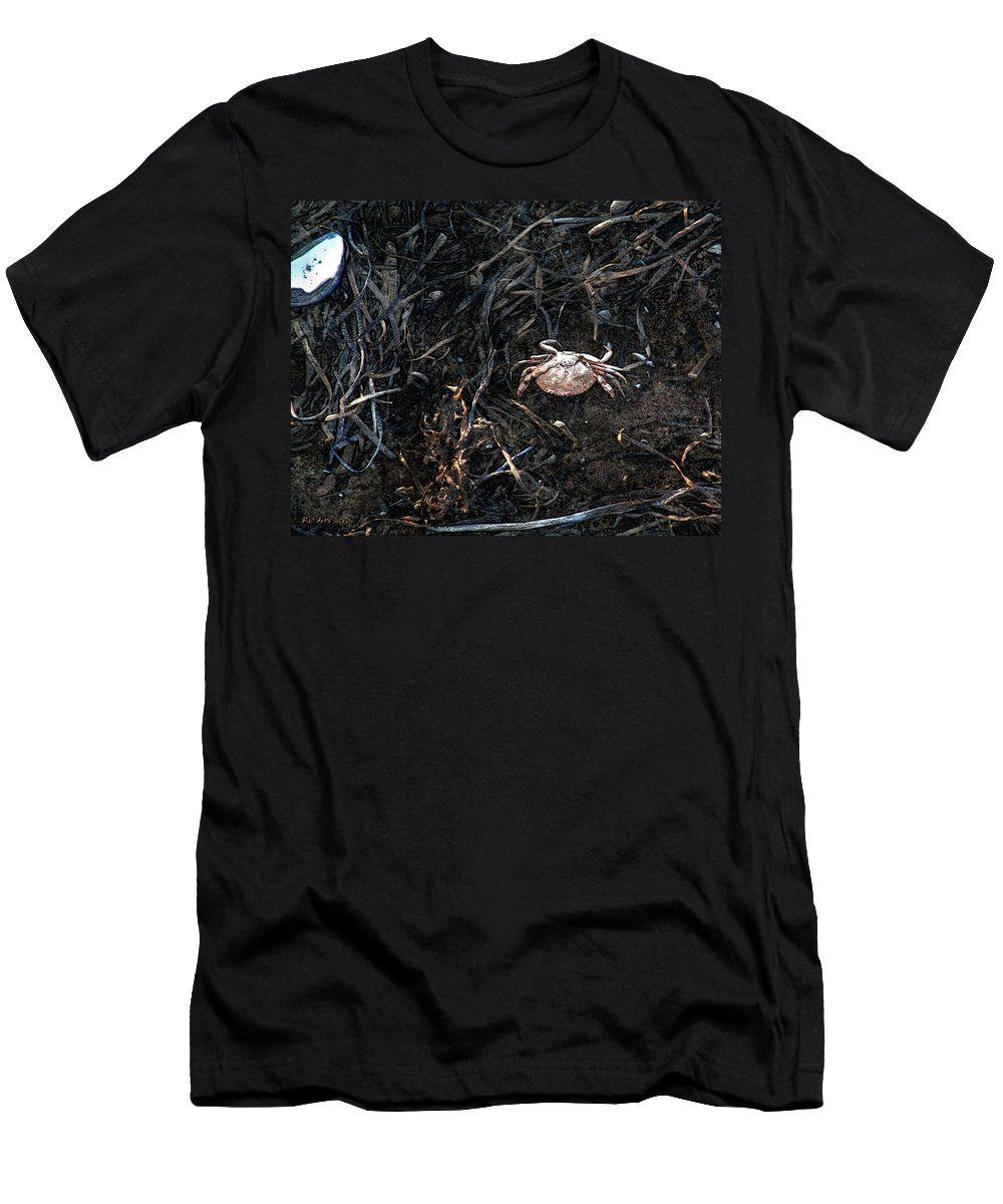 Beach Men's T-Shirt (Athletic Fit) featuring the painting Scuttling To Safety by RC DeWinter