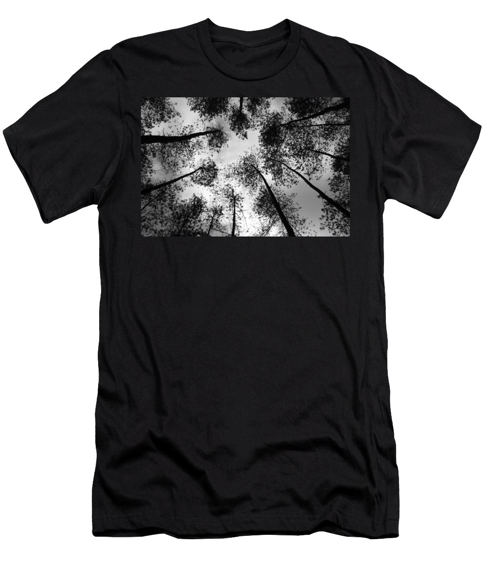Darkness Men's T-Shirt (Athletic Fit) featuring the drawing See The Darkness by Yudhit Hadi