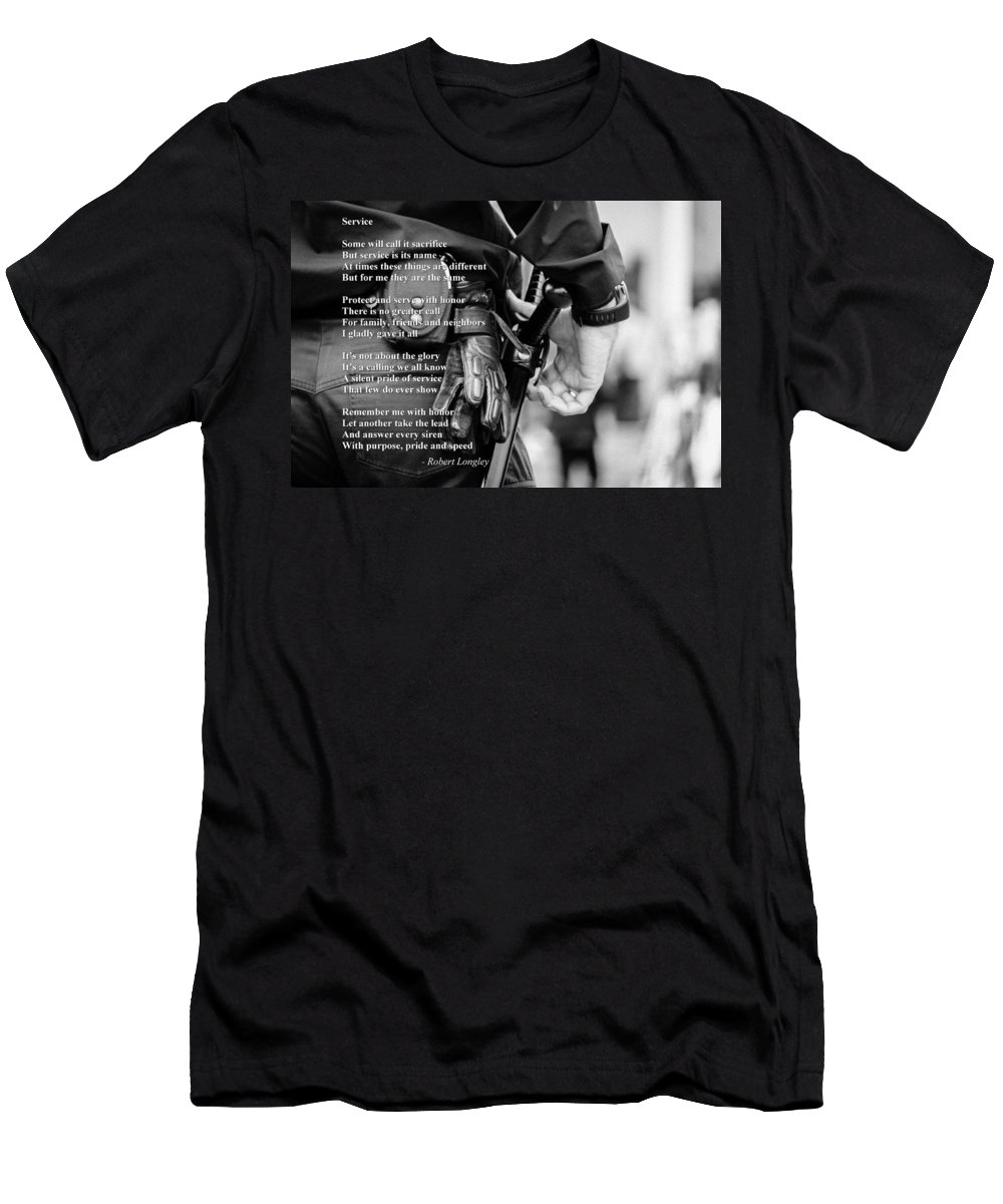 Police Men's T-Shirt (Athletic Fit) featuring the photograph Service by Robert Longley