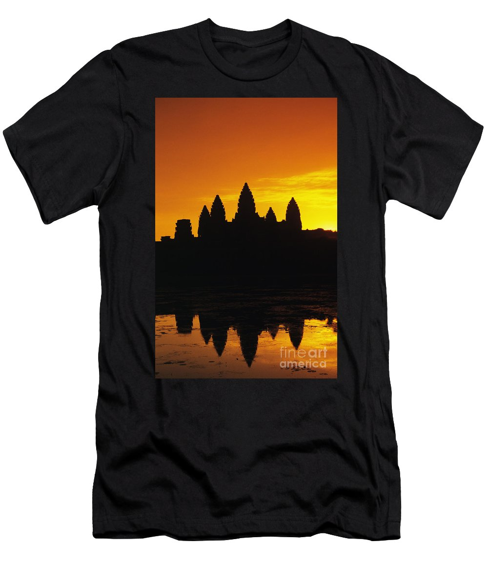 Ancient Men's T-Shirt (Athletic Fit) featuring the photograph Siem Reap, Angkor Wat by Gloria & Richard Maschmeyer - Printscapes