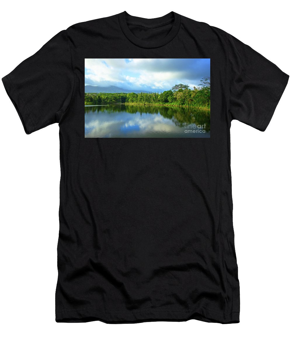 Lake Men's T-Shirt (Athletic Fit) featuring the photograph Silence by Kris Hiemstra